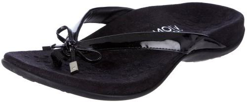 Vionic Orthaheel Womens Thong Sandal Pewter Size