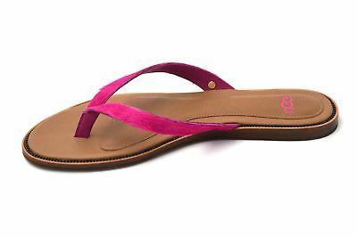 woman flip flops sandals shoes pony leather