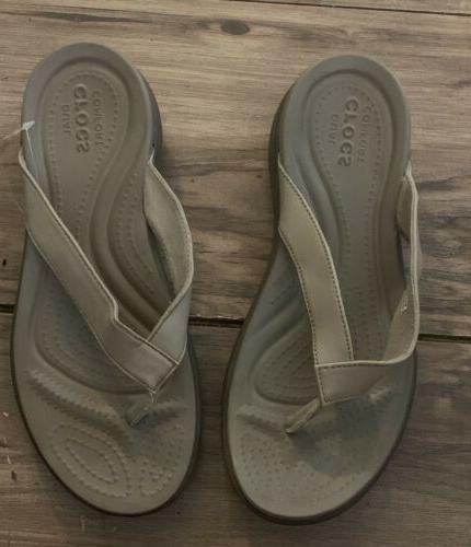 womans flip flops size 7 dual comfort
