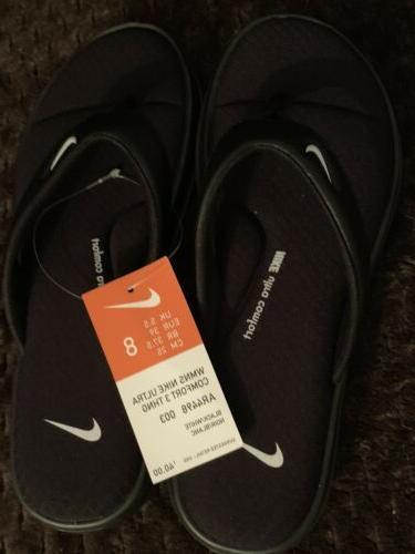 women black cushioned flip flops size 7