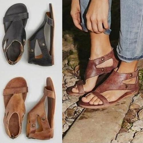 women gladiator sandals summer beach flat heel