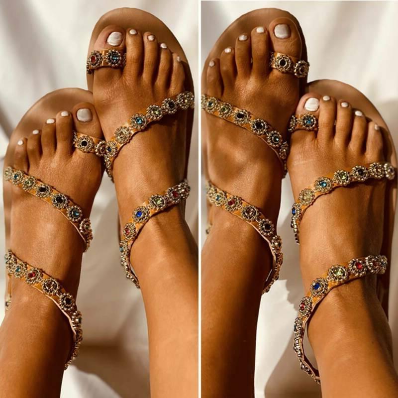 Womens Gladiator Flip Flops Sandals Slides Shoes