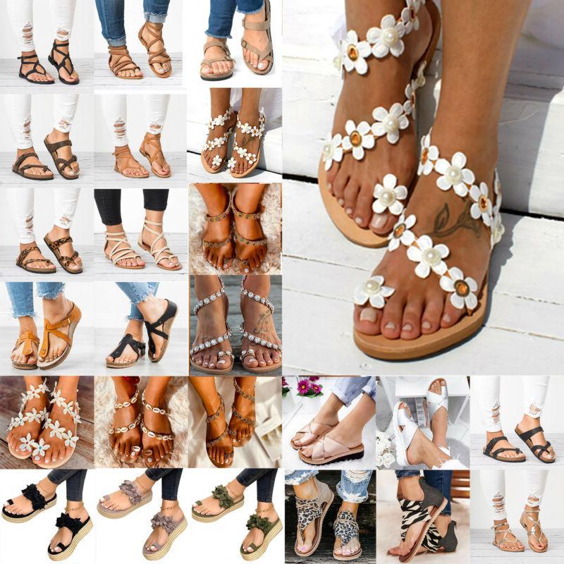 womens summer flat slippers gladiator flip flops