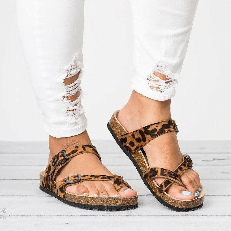 Women's T-Strap Cork Footbed Flops