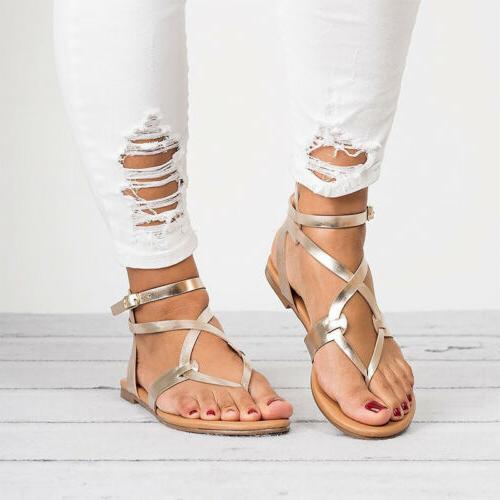 Women Gladiator Flip Ankle Open Shoes