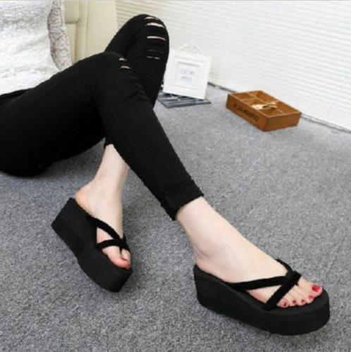 womens wedge platform flip flops sandal slipper