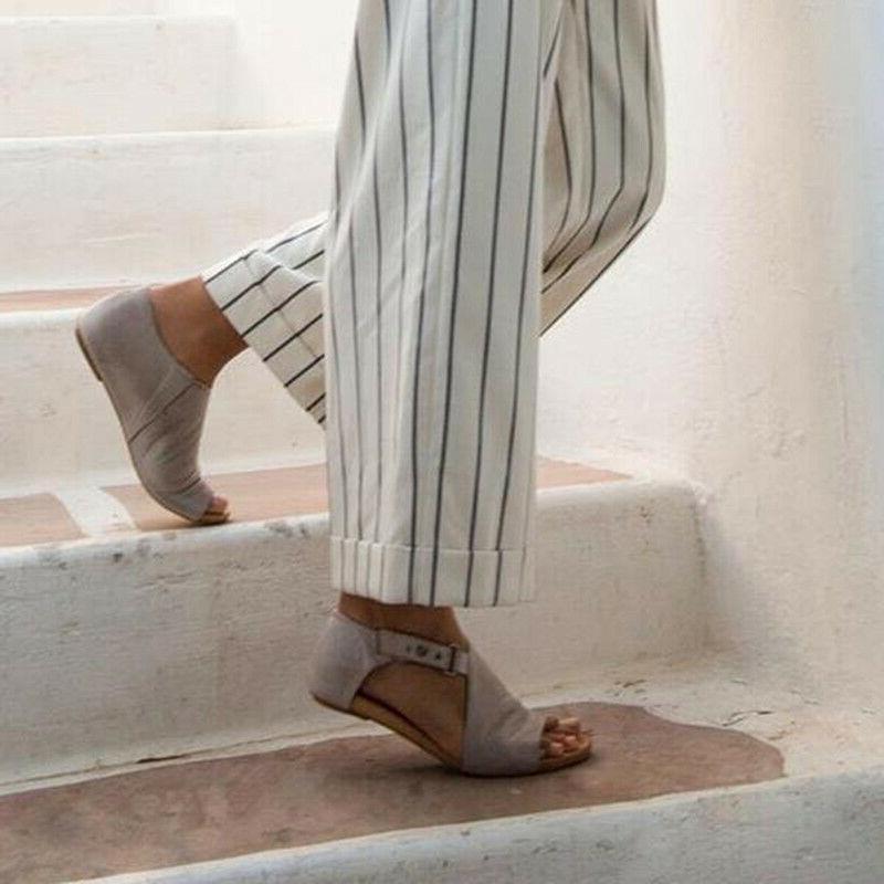 Women Lady Sandals Summer Toe Shoes Flops