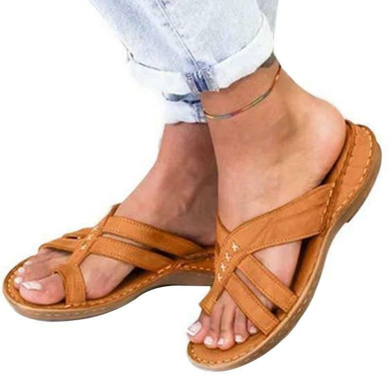 Women Flops Toe Flat Comfy Summer Size