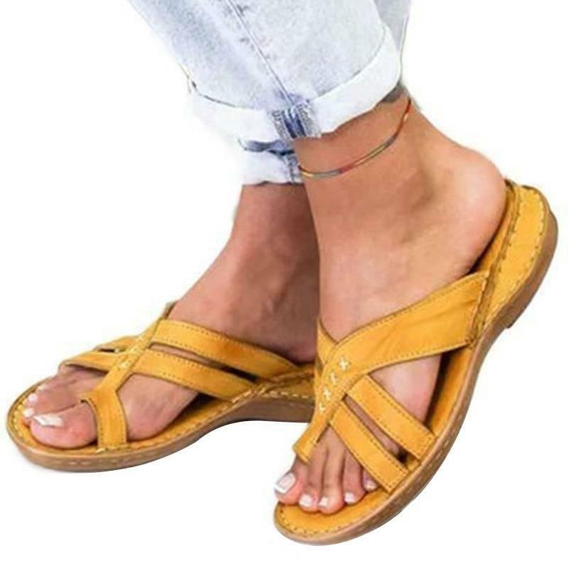 Women Orthopedic Sandals Flip Flops Comfy Summer Beach Size