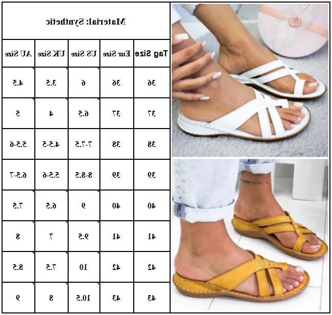 Flops Toe Flat Comfy Beach Size