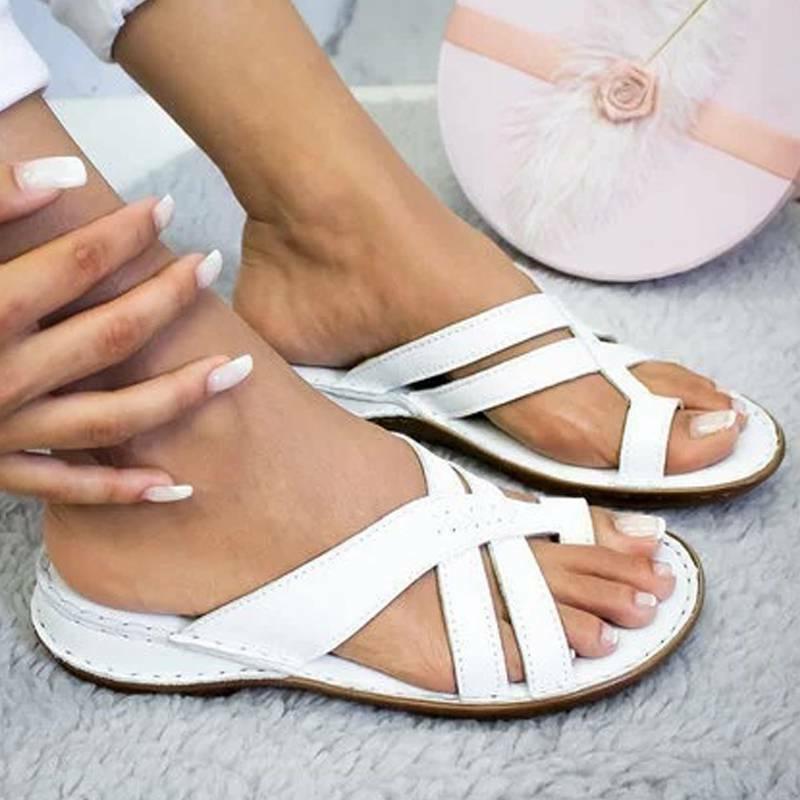 Women Orthopedic Sandals Flops Open Toe Comfy Summer Beach Shoes