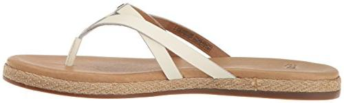 UGG Women's Annice Flop, White, 5.5 B US