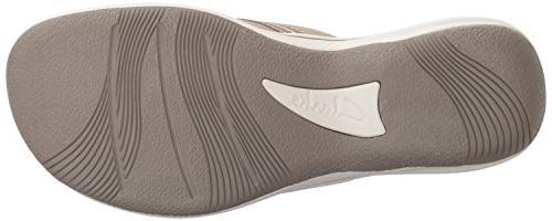 Clarks Brinkley Flip Flop, Sand 8 US