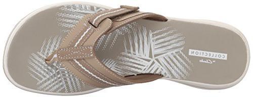 Clarks Women's Flip Sand Synthetic, 8