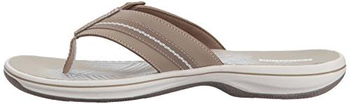 Clarks Flip Flop, Sand Synthetic, 8
