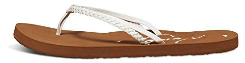 Roxy Cabo Flip Flop, White, US