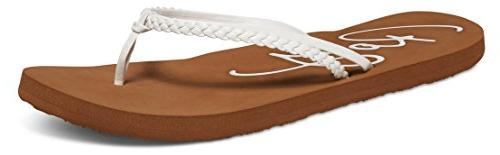 women s cabo flip flop white 9
