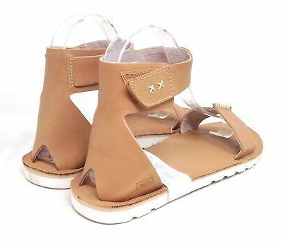 Reef Strap Flat Sandals Tan White M