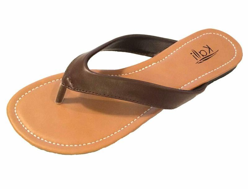 women s cocoa flat thong sandals