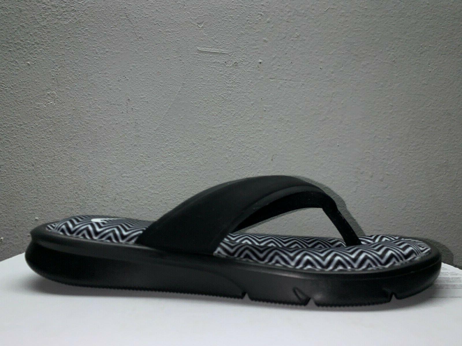 Women's Nike Print Flip Black White SZ