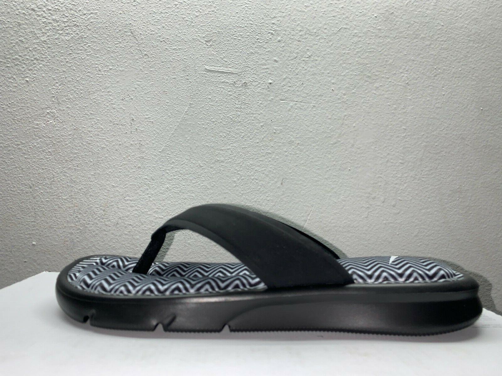 Women's Print Flip Sandals Black White