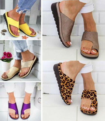Women On Slipper Summer Beach Flip Shoes Size