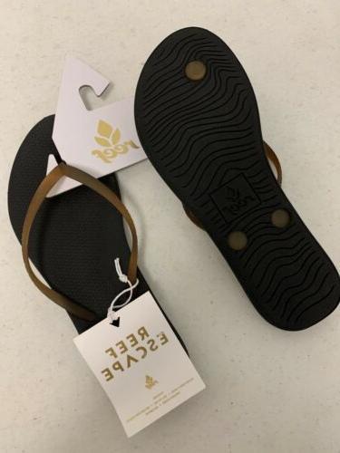 Reef Women's Escape Lux Flip Sandals - Black