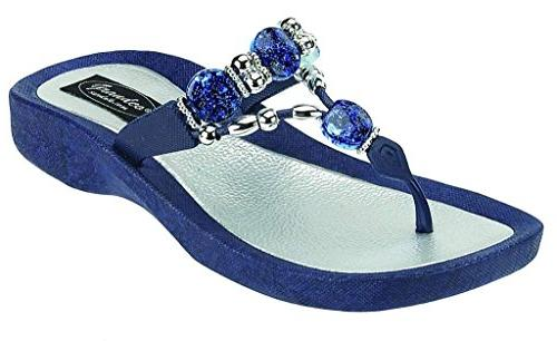 women s expression thong navy sandal 6