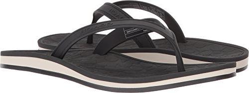 women s flip flop black rubber 6