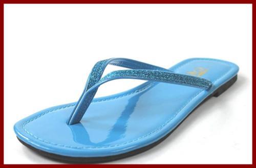 women s focus glitter flip flops 6