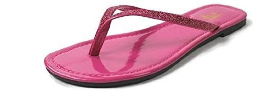 women s focus glitter flip flops hot