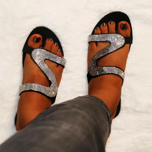 Women's Glitter Slipper Casual Flat Shoes