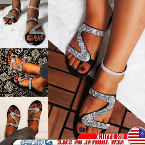 women s glitter rhinestone sandals slipper flip