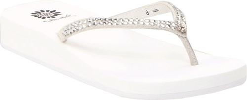 women s jello sandal white 8 m