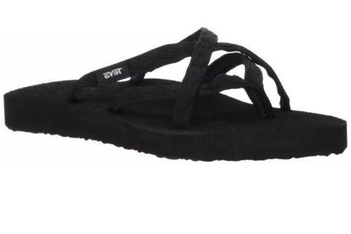 women s olowahu flip flop mix black