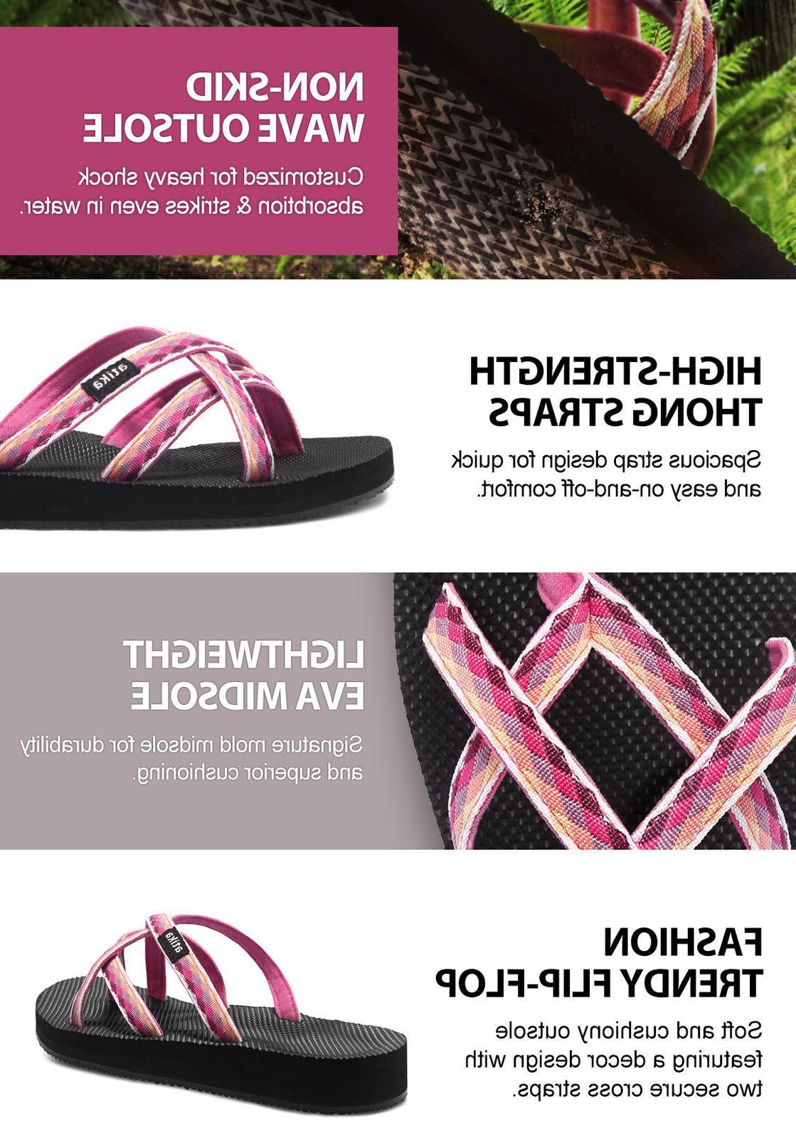 ATIKA Sandals, Beach Flops, Support Platform