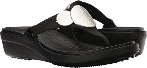crocs Women's Flip Metallic, 10 M US