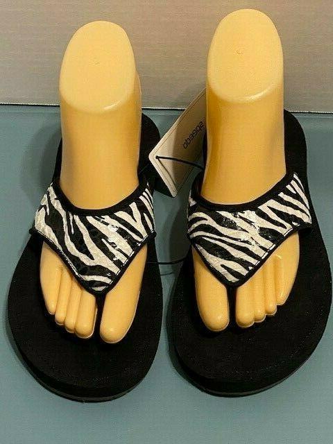 Speedo Size Flip Flops Sandal Shoes Black White