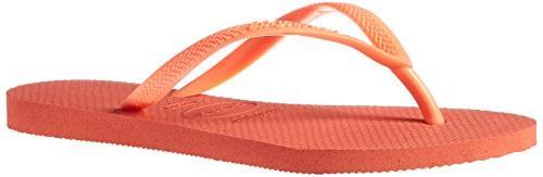 women s slim sandal flip flop orange