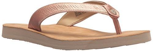 women s tawney metallic flip flop rose