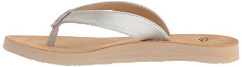 UGG Flip-Flop, Silver, 8 US