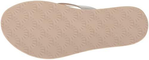 UGG Women's Flip-Flop, Silver, M US