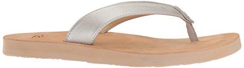 UGG Women's Metallic Flip-Flop, 8 US