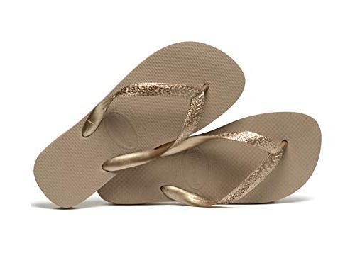Havaianas Women's Top Tiras Sandals, Rose Gold, 37/38 BR