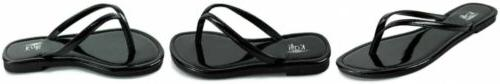 women s twins basic patent flat thong