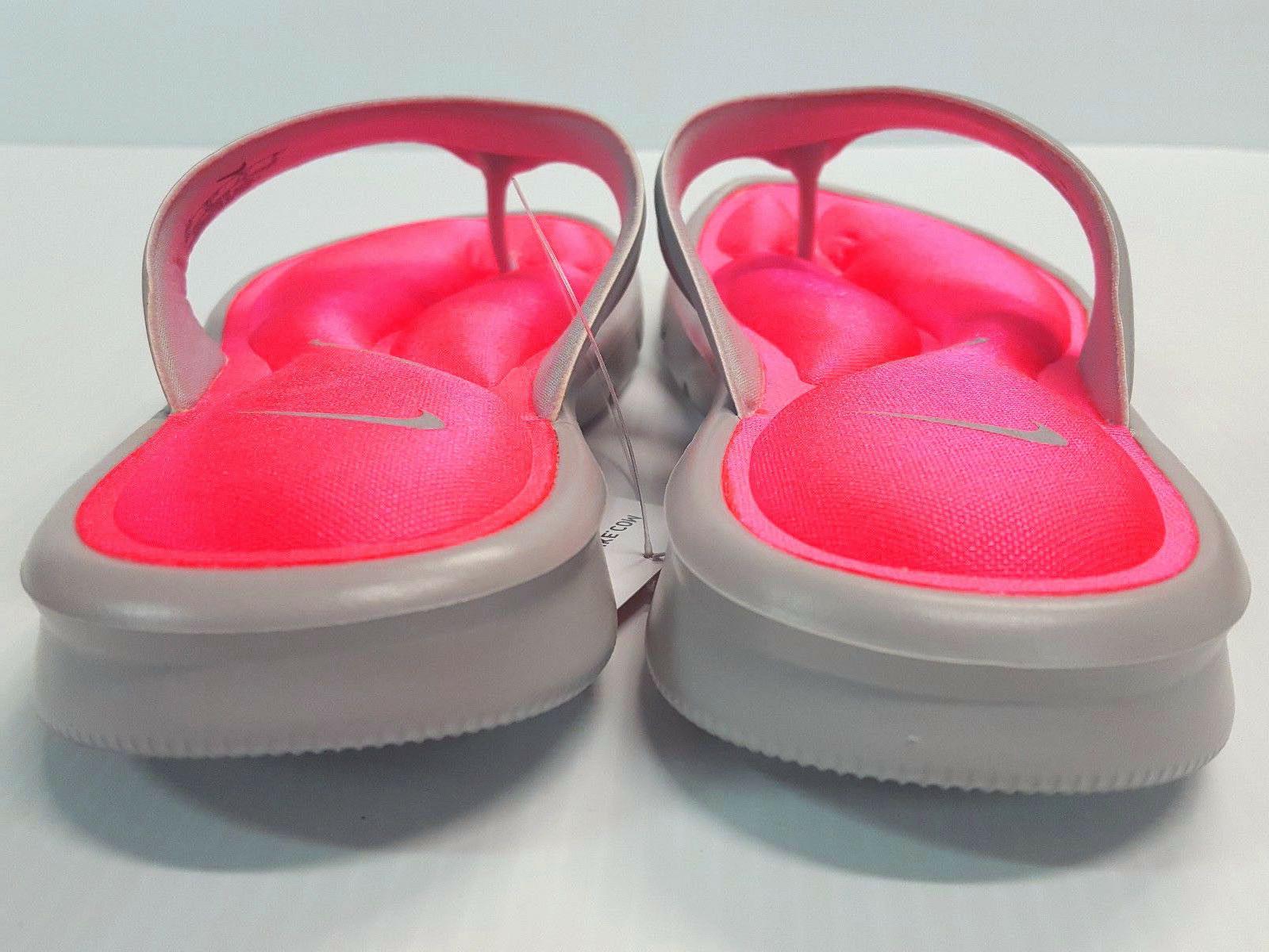 Nike Ultra Comfort Thong Sandals, Flip-Flops Gray/Punch Size 6,7,8,9,10