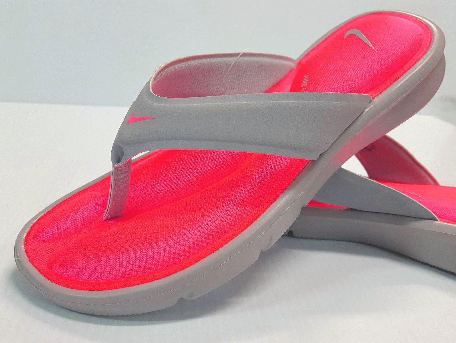 Nike Thong Flip-Flops Gray/Punch Size 6,7,8,9,10