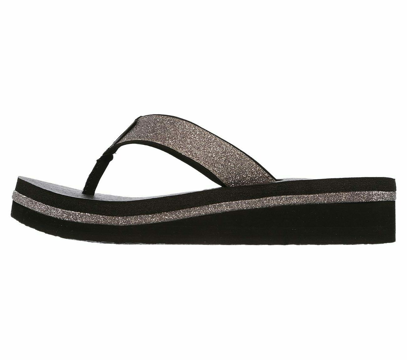 Skechers Women's Unicorn Micro Sandals Silver 9