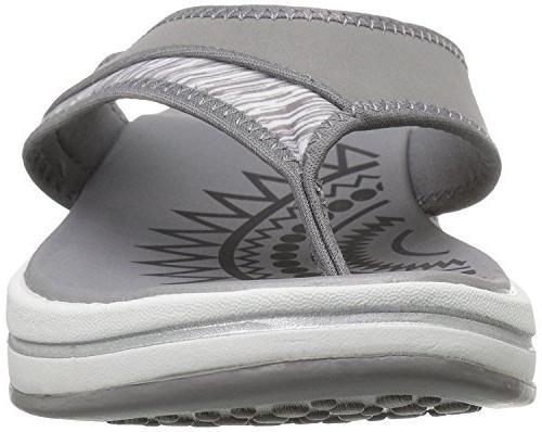 Skechers Winder Flip Flop,Grey,8 US