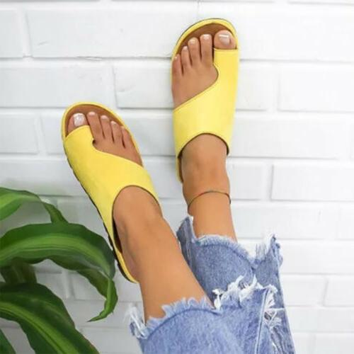 Women Platform Toe Ring Slippers Comfy Ladies US